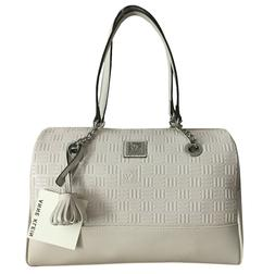 ANNE KLEIN Embossed Chain Duffel Bag Purse Shoulder Handbag
