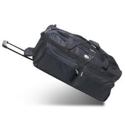 Everest 30-Inch Deluxe Wheeled Duffel Color: Black