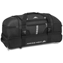 "High Sierra Evolution 30"" Wheeled Drop-Bottom Duffel, Black/"