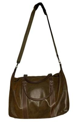 Faux Leather Travel Duffel Gym Luggage Overnight Weekend Bag