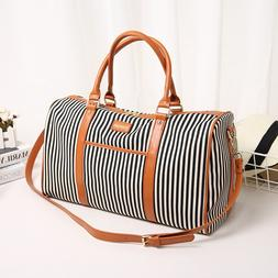 <font><b>Canvas</b></font>+PU Leather Women Travel <font><b>