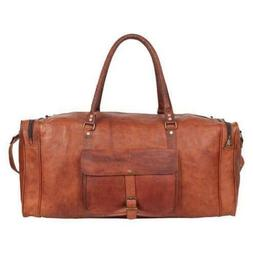 Genuine Vintage Leather Duffel Travel Overnight Weekend Gym