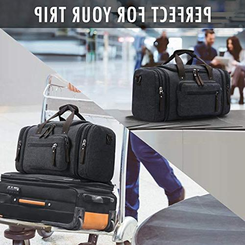 Toupons Canvas Travel Luggage Weekender Bag,