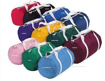 Augusta 210-Denier NEW UNI Nylon Barrel Duffel Sports Retro