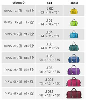 """28"""" Foldable Duffle Bag 80L for Sports Luggage Duffel By"""
