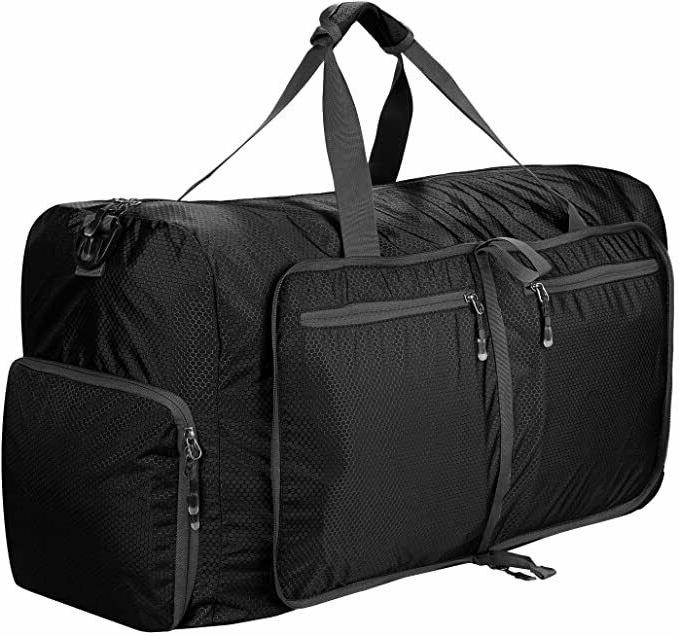 80L Packable Bag Foldable Duffel for Carry On Gym Spo