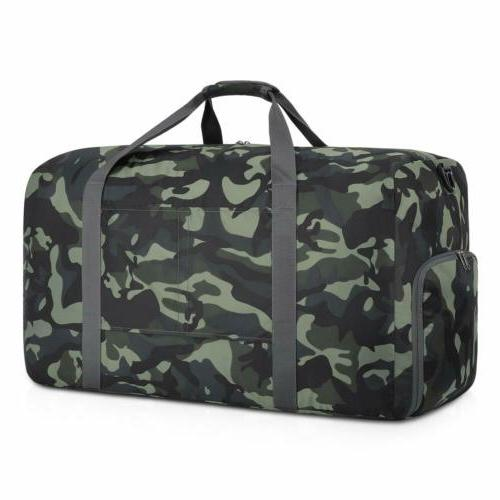 Plambag 50L Canvas Luggage Duffel Bag Travel Tote Shoulder B
