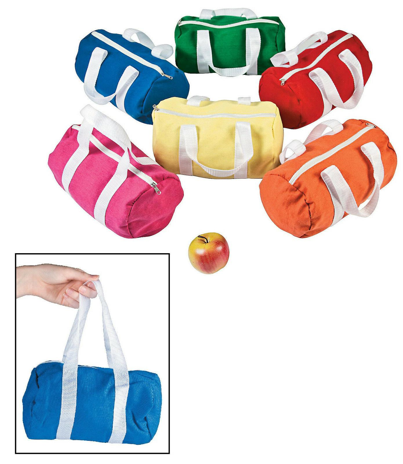 """Small Kids Canvas Duffle Bags  Bright Colors! 10"""" x 8"""" with"""