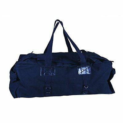 Stansport Tactical Canvas Duffle Bag Black 34 X 15 X 12-inch