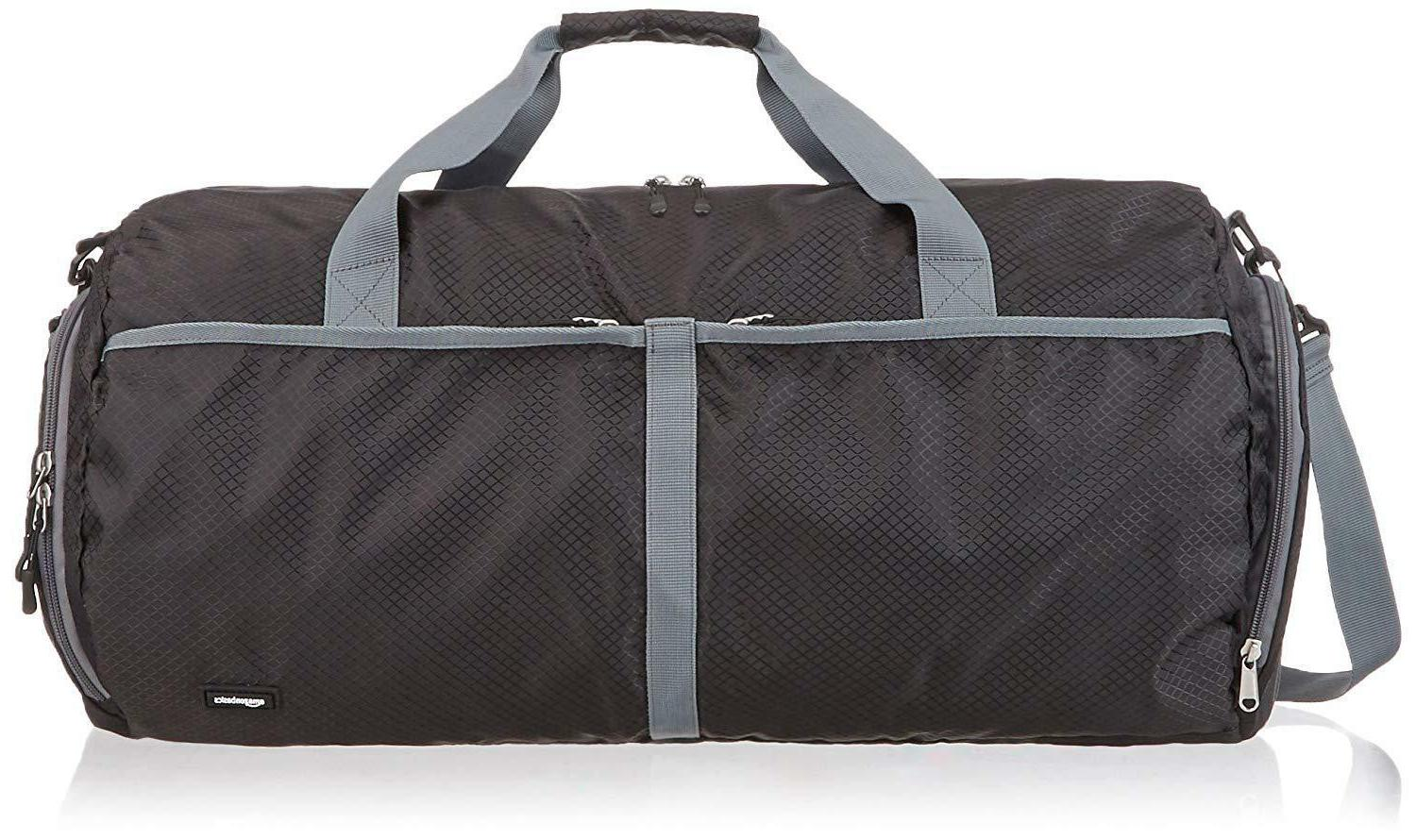 amazonbasics packable travel duffel 23 inch black