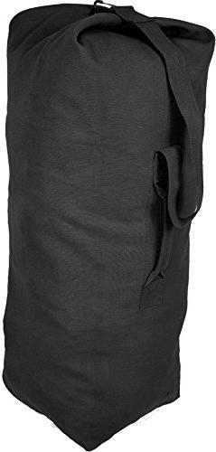 Black Giant Top Load Canvas Military Duffle Bag