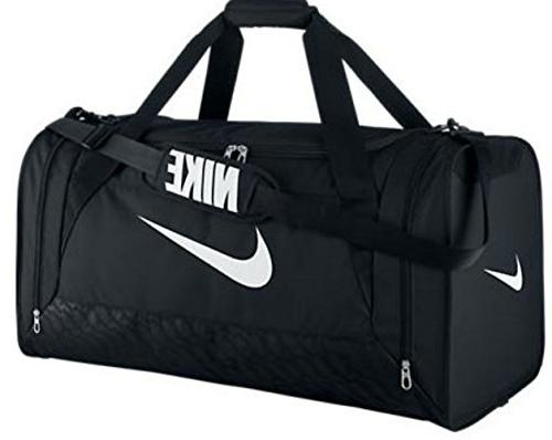 f0be60026 New Nike Brasilia 6 Large Duffel Bag Black/Black/White