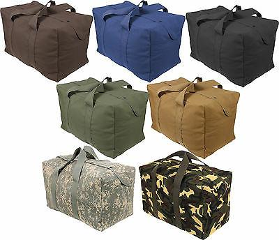 Canvas Bag Heavy Duty Cotton Large Military