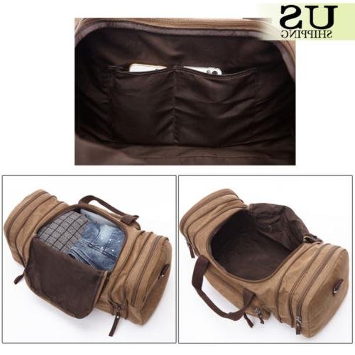 Large Men's Weekend Shoulder Duffle Bag Strap