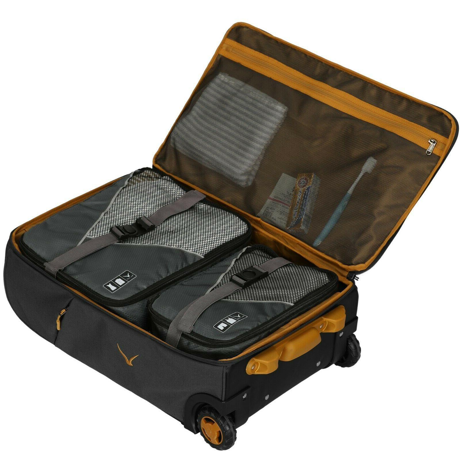 Carry Rolling Wheeled Duffel Checked Suitcase 21''