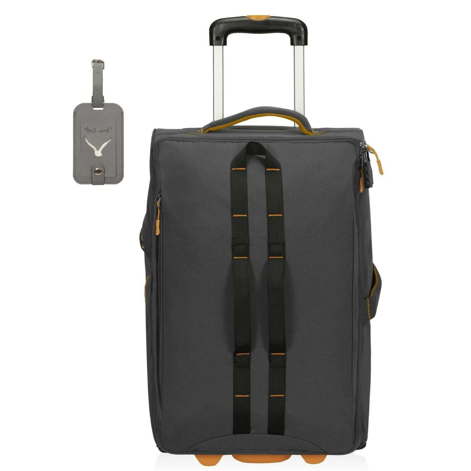 Carry on Luggage Rolling Wheeled Checked Suitcase 21''