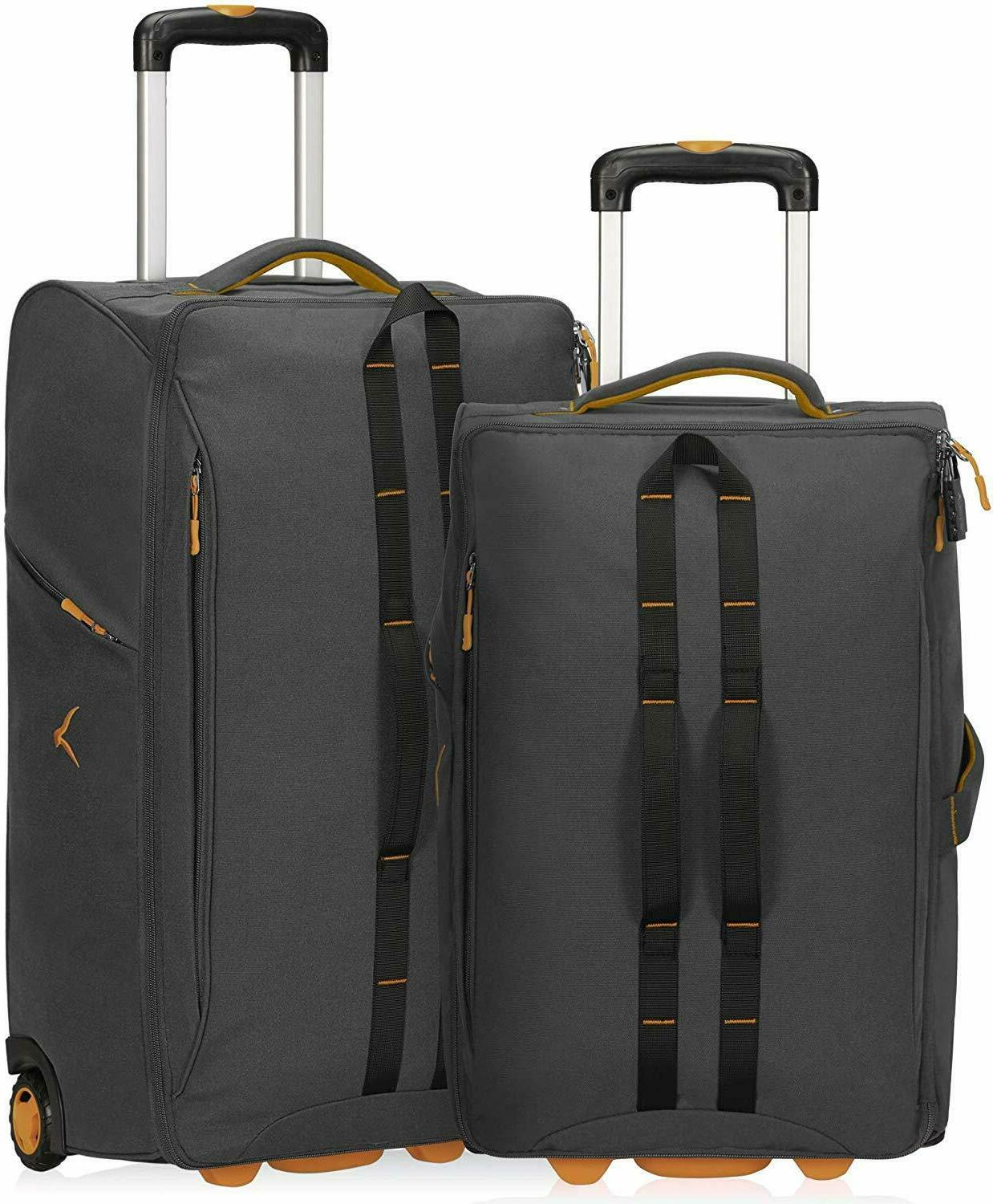 carry on luggage rolling wheeled duffel bag