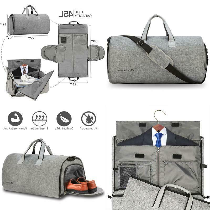 convertible garment bag with shoulder strap carry