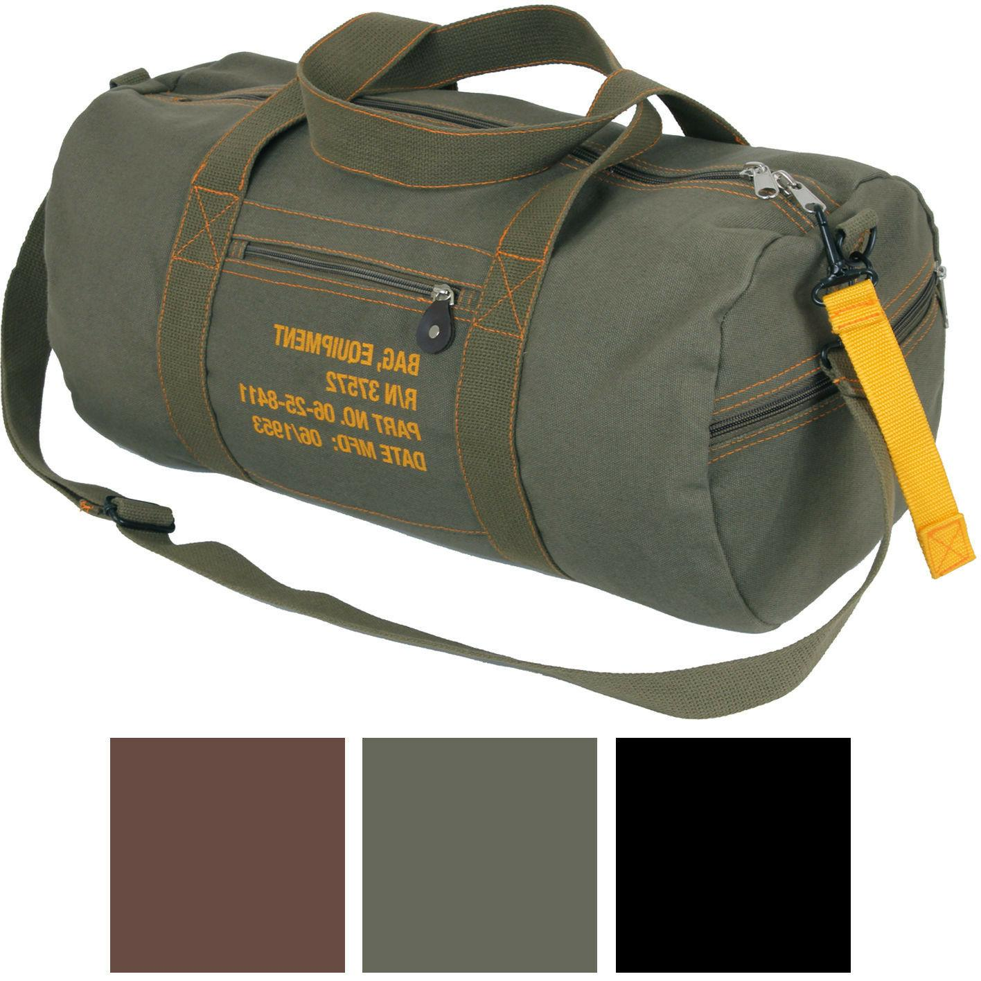 cotton canvas travel equipment carry duffle bag