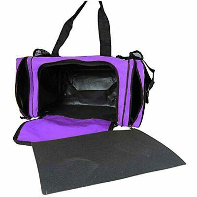 DALIX Bag With Front Mesh Pockets Purple