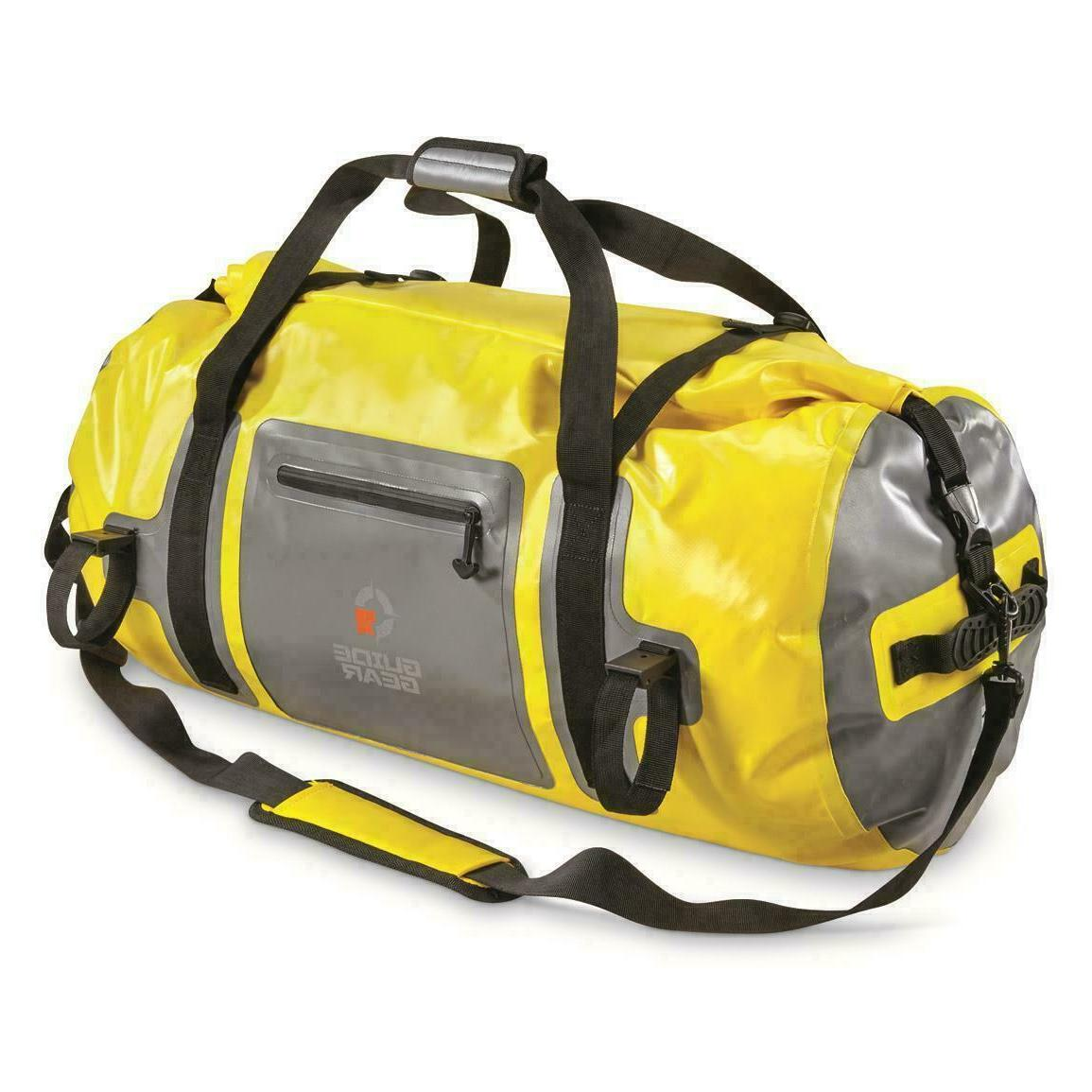 Guide Gear Dry Duffel Bag 65 Liters Yellow Removable Padded
