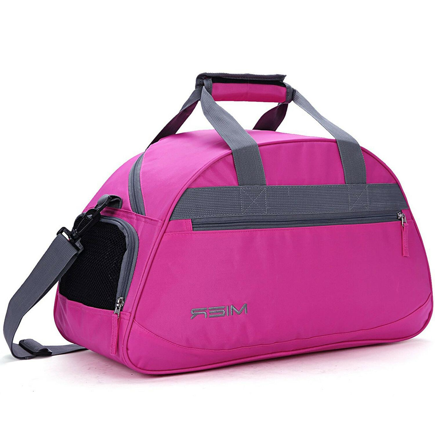 "Women's Sports Gym Bag Travel Duffel Bag 20"" with Shoes Comp"