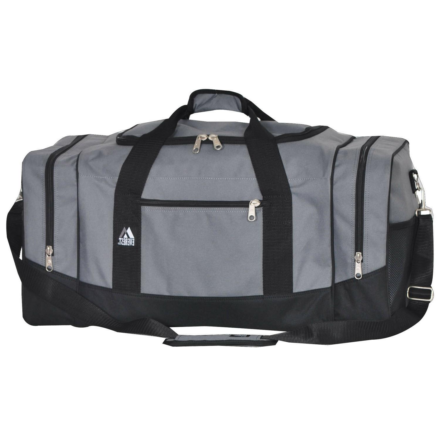 duffel bag spacious sporty zippered clam shell