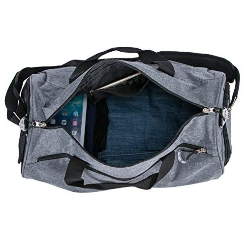 Kuston Sports with Shoes Compartment Duffel Bag for and Women