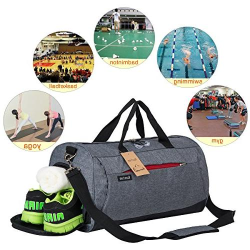 Kuston with Compartment Duffel Bag Men and