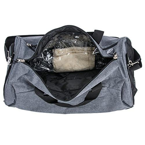 Kuston Sports Gym with Shoes Compartment Travel Duffel for and Women