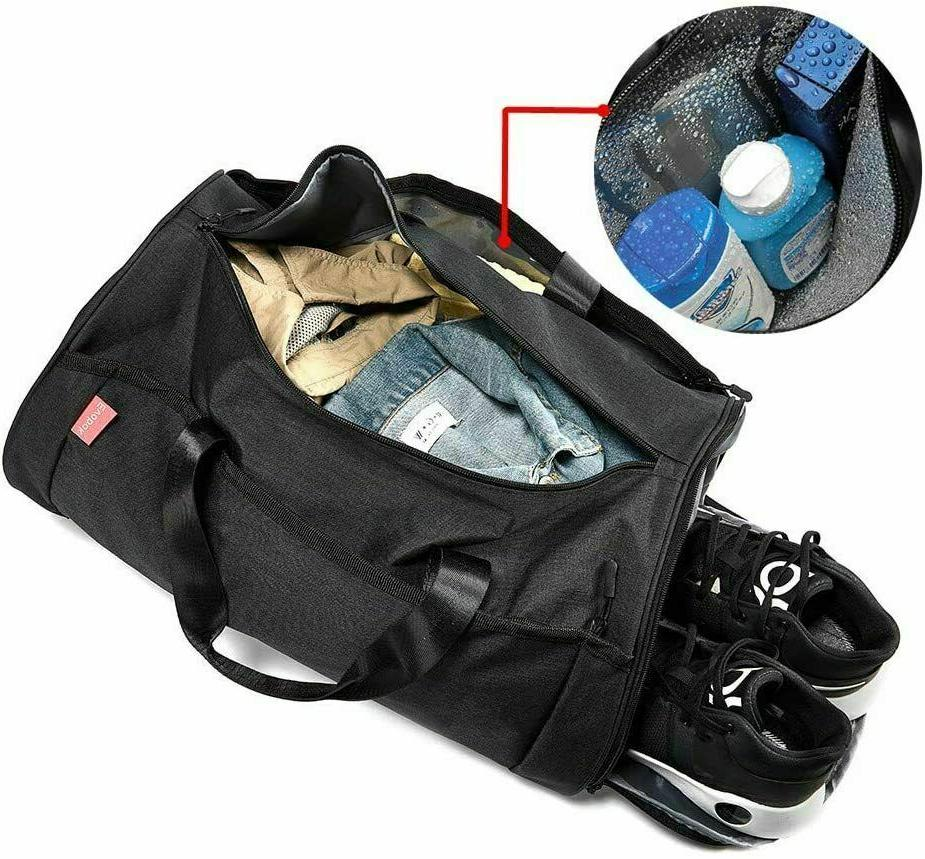 2x Gym Bag with Shoes Wet Pocket