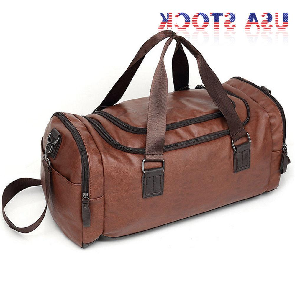 Large Leather Handbag Duffel Bag Gym