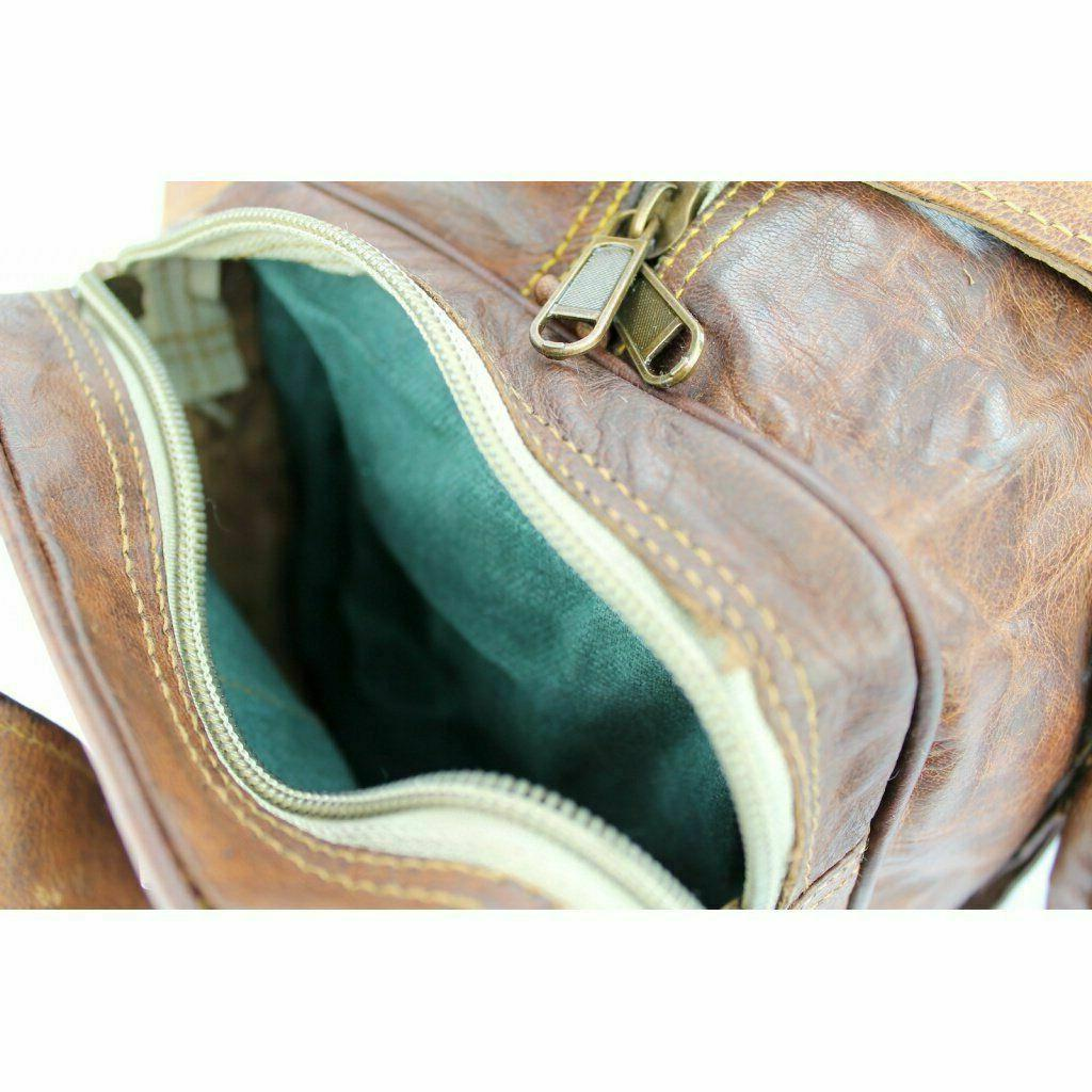 New Large Bag Sports Overnight Leather