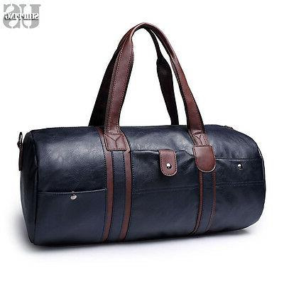 Men Leather Travel Bag Overnight Duffle