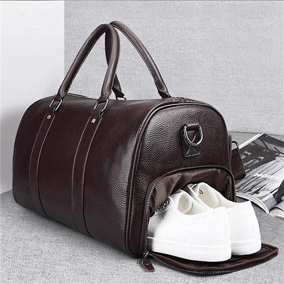 Men's Leather Shoulder Luggage Handbag