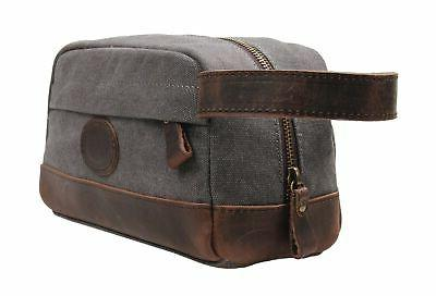 msg vintage leather canvas toiletry