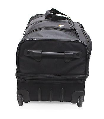 BLACK GEAR LARGE BOTTOM ROLLING WHEELED DUFFEL BAG