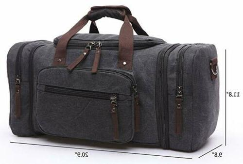 new canvas men women travel bag tote