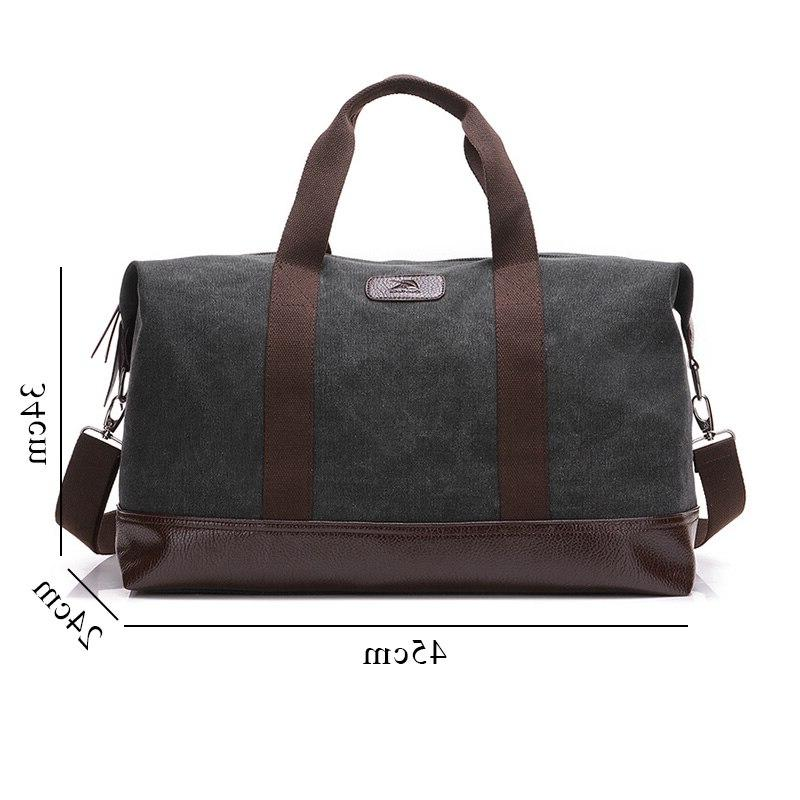 New Casual Large Capacity Men <font><b>Bag</b></font> Travel <font><b>Bag</b></font> Canvas Khaki/Black