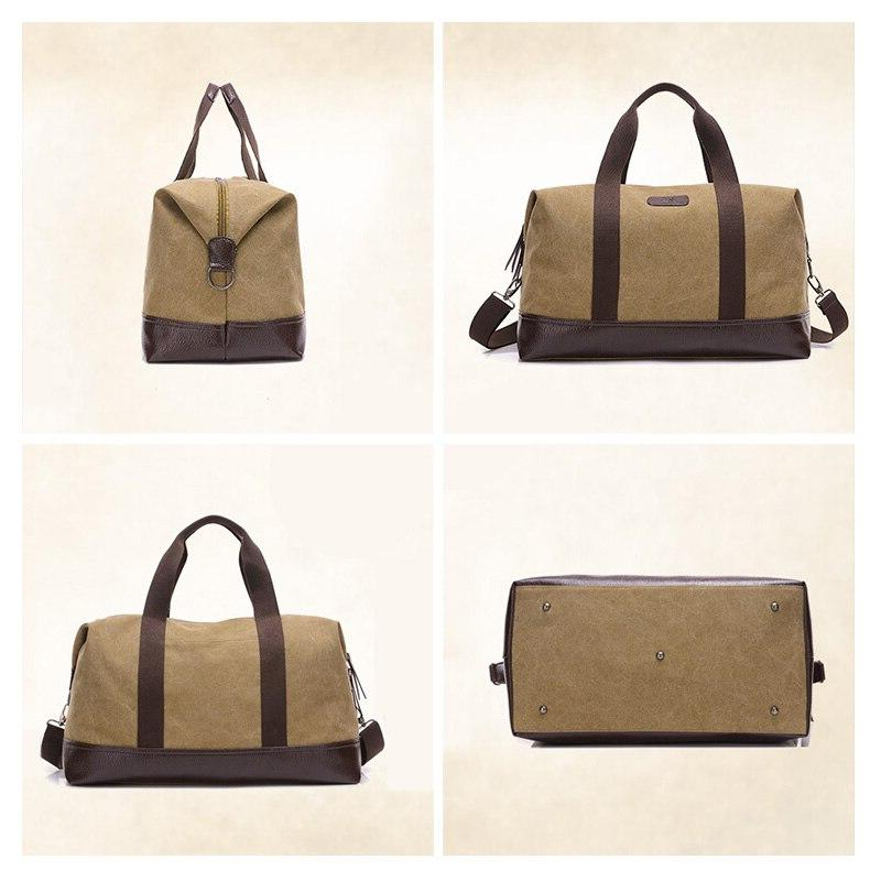 New Fashion Capacity Men Fitness <font><b>Bag</b></font> Outdoor Travel <font><b>Bag</b></font> Women Canvas Handbag Khaki/Black