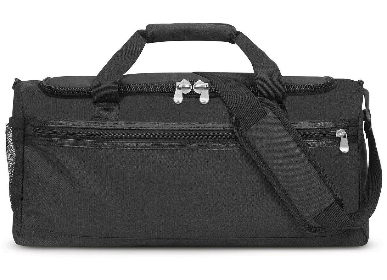NEW MENS SOLO BLANKSLATE BLACK GYM DUFFEL BAG $80