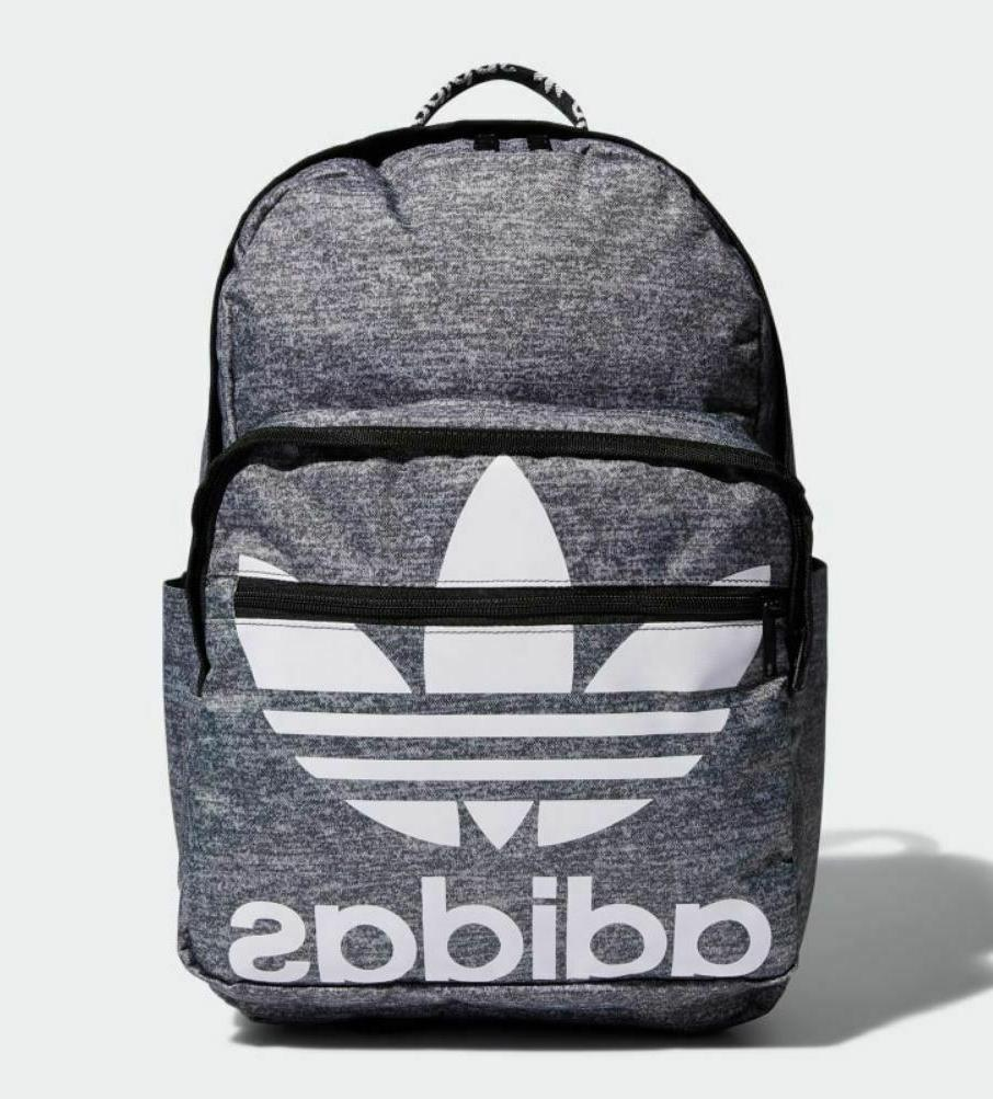 NEW ADIDAS ORIGINALS TREFOIL POCKET BACKPACK #CL5495 GREY