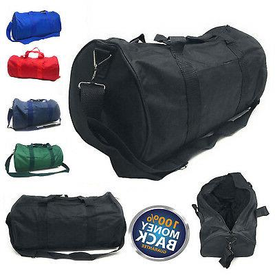 NEW Polyester ROLL Duffle Duffel Bag Travel/Gym/Carry-On Sport