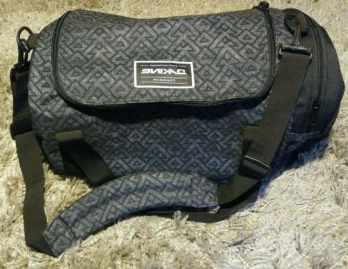 NWOT Dakine Duffle Bag Geometric Pattern Grey / Black w/ Sho