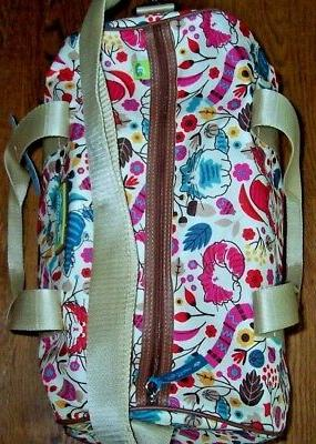 NWT Lily Bloom Ivory CATS Overnight/Travel/Gym/Yoga Bag Duffel