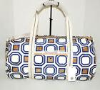 Tory Burch Octagon Square Large Ivory Duffel Bag New