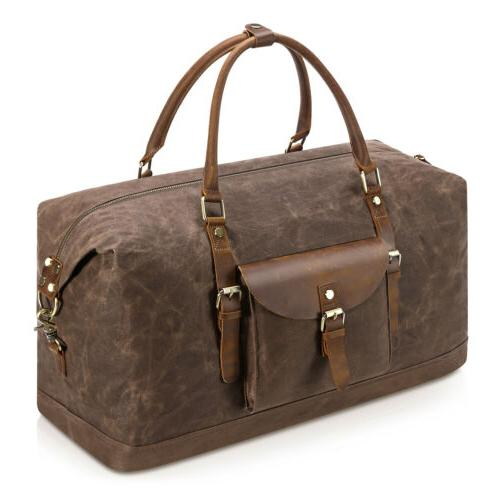 Oversize Duffel Weekend Leather Tote