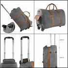 Kattee Rolling Duffle Bag with Wheels Canvas Travel Luggage