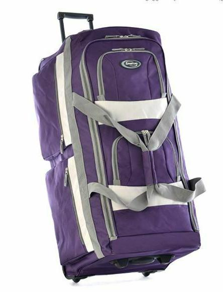 Rolling Wheeled Duffel Travel Suitcase Luggage 8 Or 22 Inch