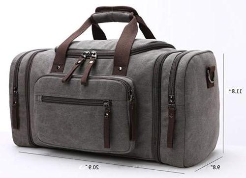 Travel Canvas Bag Tote Gray